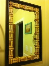 DIY Anthropologie-Inspired Cork-Edged Mirror